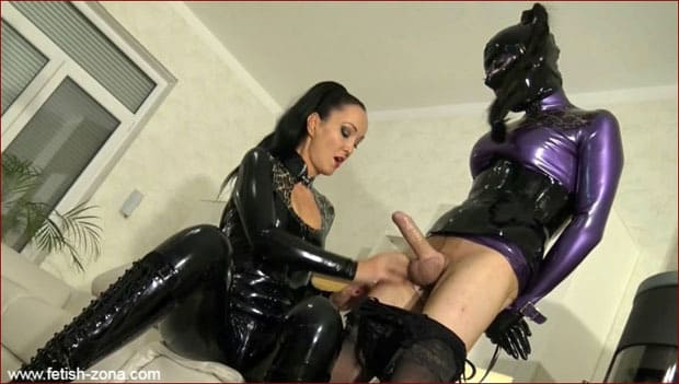 Bound rubber doll, which milked latex Mrs - HD 720p