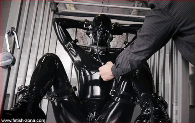 Vespa - Bound Gagged Orgasm In Cage - FULL HD 1080p