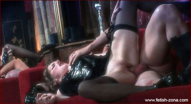 Anal deep sex with lady in latex corset - HD 720p