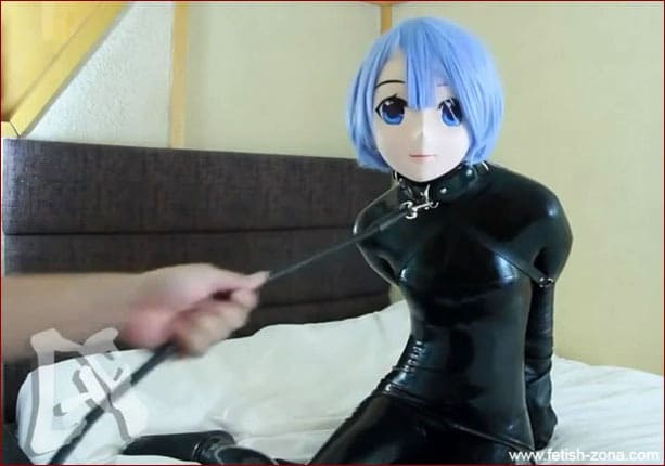 Miraidouga - Mocks girl in Anime mask with application of breath control to her - HD 720p