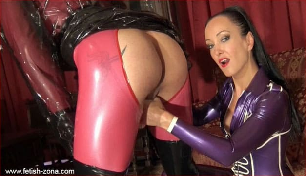 Rubber doll tease latex strict lady - HD 720p