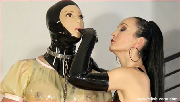 Rubber maid bondage from serious lady - HD 720p