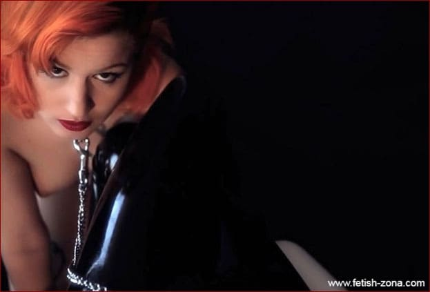 Amarna Miller, Eris Maximo - Slavery of red-haired beauty from latex lady - HD 720p