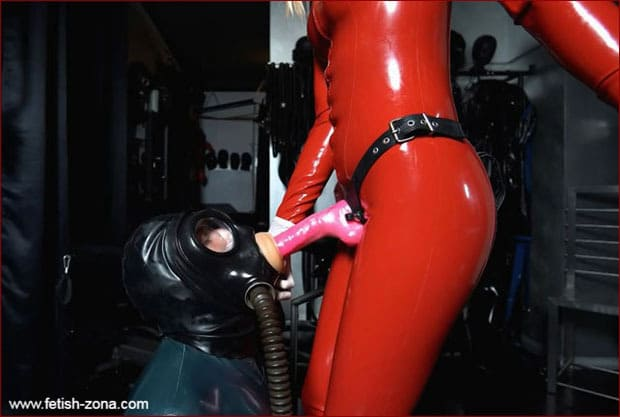 Mistress Madita fucks rubber slave mouth and ass - FULL HD 1080p